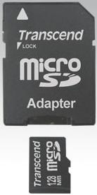 microSD и адаптер стандартного для SD размера