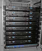 Кластер из 8 серверов