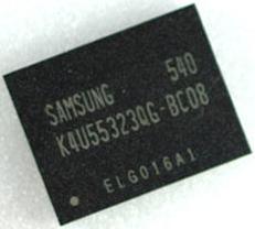 GDDR4 чип от Samsung