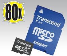 512 MB 80x microSD и адаптер