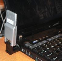 WUSB-заглушка на ноутбуке