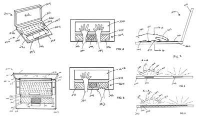 Иллюстрация к патенту Apple о широкой сенсорной панели