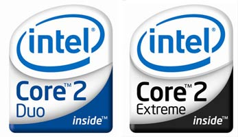Новые логотипы для микропроцессоров Conroe (и Merom)