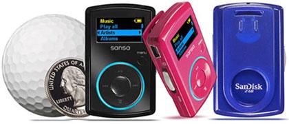 SanDisk Sansa Clip. MP3-плеер с клипсой.
