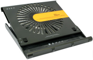 Вентилятор диаметром 22 сантиметра для одного ноутбука.