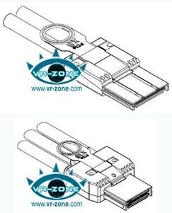 Разъёмы для кабеля PCIe x8 (вверху), x16