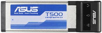 ASUS T500. Express Card модем для сетей 3.5G.