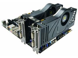 В составе SLI на NVIDIA nForce 680i