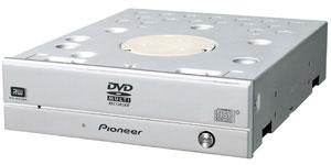 Pioneer DVR-215. 20x-кратная скорость записи DVD-R и DVD+R.