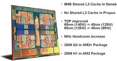 Неофициально о 45-нм четырёхъядерных процессорах AMD