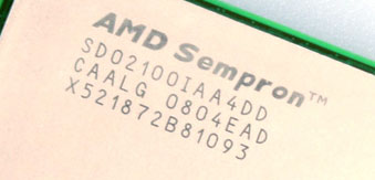Сюрприз: двухъядерный AMD Sempron 2100+.