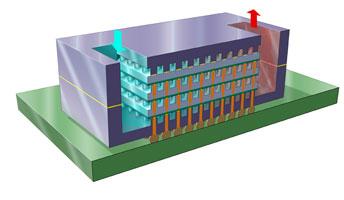 Вода сквозь микросхему – идеальный теплоотвод