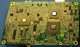 Плата AMD K8 BGA (вид снизу)