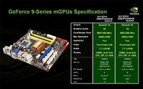 Характеристики 9400 и 9300 mGPU