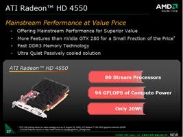 ATI Radeon HD 4550 (с пассивным охлаждением)