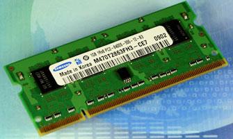 1-ГБ SODIMM Samsung на 40-нм чипах DDR2