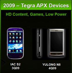 Прототипы смартофонов на платформе NVIDIA Tegra 600/650