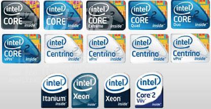 Новые логотипы «Intel inside»