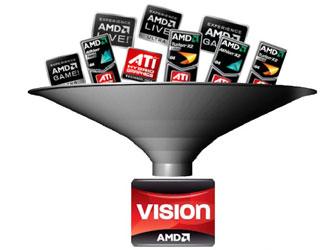 Коллаж сайта HKEPC: десяток наклеек AMD на ноутбуке будет заменён одной?