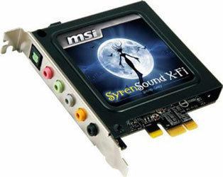 Звуковая карта MSI «SyrenSound X-Fi» с шиной PCIe x1
