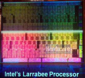 Участок кристалла Intel Larrabee