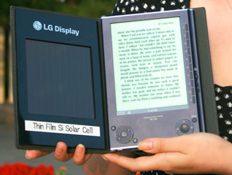 Электронная книга Sony PRS-505 с солнечным элементом в обложке