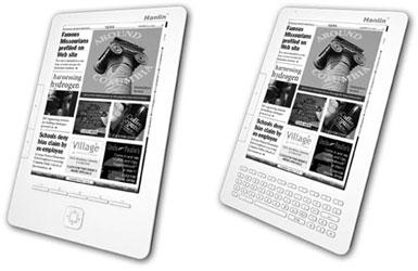 Два варианта дизайна книги Lbook A9