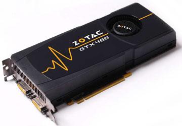 Видеокарта NVIDIA GTX 465 производства компании ZOTAC