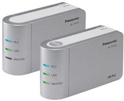 Комплект PLC Ethernet-адаптеров Panasonic (119 Мбит/с)