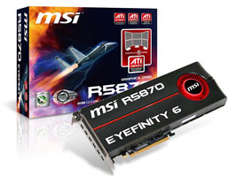 MSI R5870 EYEFINITY 6
