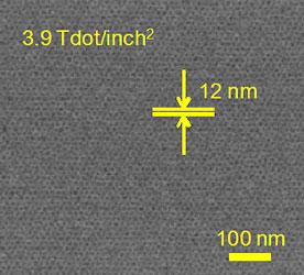 Структурированная молекулярная (магнитная?) среда (каждая точка — 12-нм домен)
