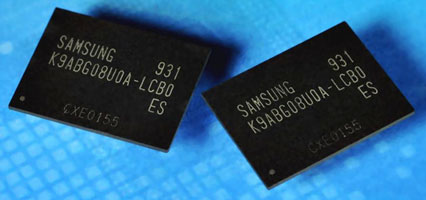 Трёхбитовая NAND-флэш MLC Samsung объёмом 64 Гбит с нормами ниже 30-нм