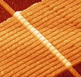 Строка и колонки, и никаких транзисторов, а запоминающий элемент — точка пересечения