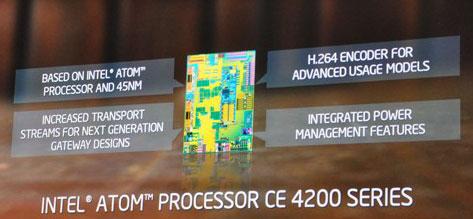 Блок-схема Atom CE4200
