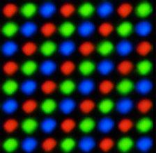 Расположение триад экрана OLPC XO