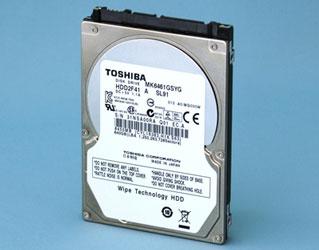 Самошифрующийся и самоочищающийся HDD Toshiba