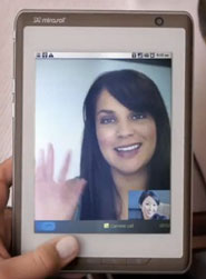 Кадр из рекламы букридеров на экранах mirasol