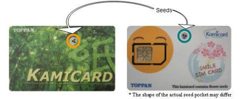Карточки с впечатанными семенами