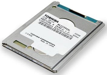 1,8-дюймовый жёсткий диск Toshiba объёмом 220 ГБ