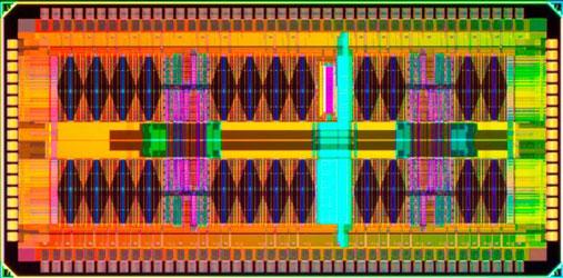 Кристалл четырёхъядерного 45-нм процессора IBM для Nintendo Wii U