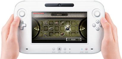 Штатный игровой контроллер новой приставки Nintendo Wii U