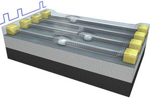 Модель памяти с нанотрубками и врезками из халькогенида