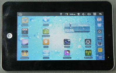 7-дюймовый планшет на ARM-процессоре VIA wm8650