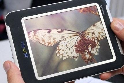 Макет электронной книги с цветным экраном Qualcomm mirasol