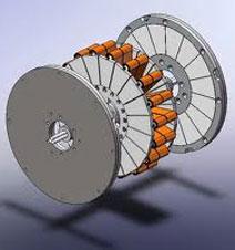 Пример двигателя с осевой ориентацией МП