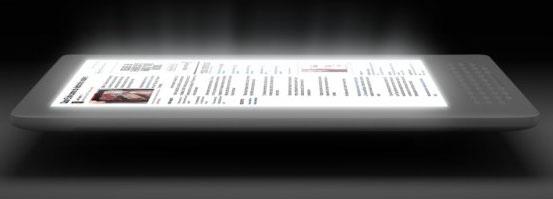 Компьютерная модель букридера Amazon с надсветкой компании Flex Lighting