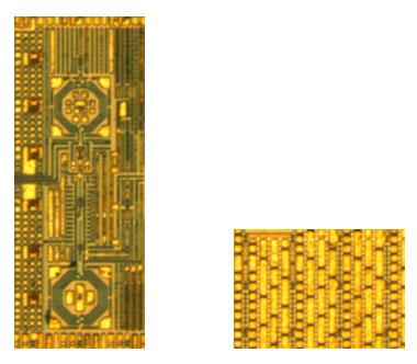 Цифровые передатчик (слева) и фазовый модулятор (справа)