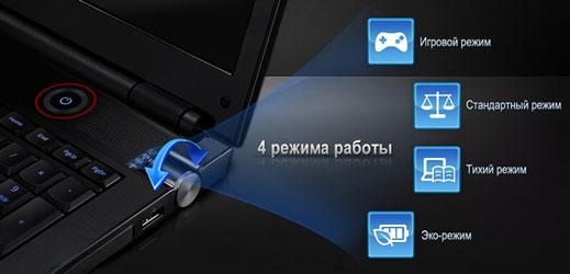 Переключатель режимов работы ноутбука Samsung Series 7 700G7C Gamer