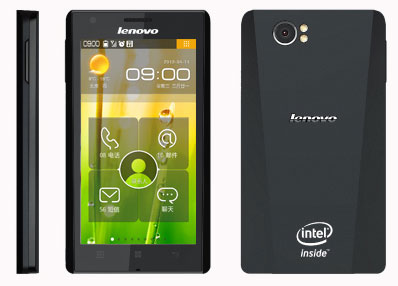 Смартфон Lenovo LePhone K800 на процессоре Intel Atom