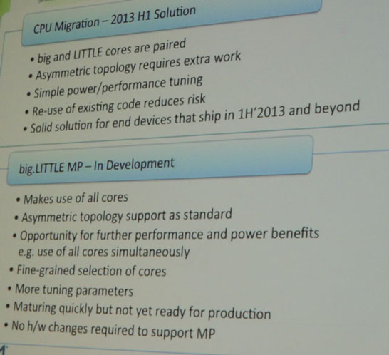 Плюсы и минусы режимов CPU Migration и big.little MP